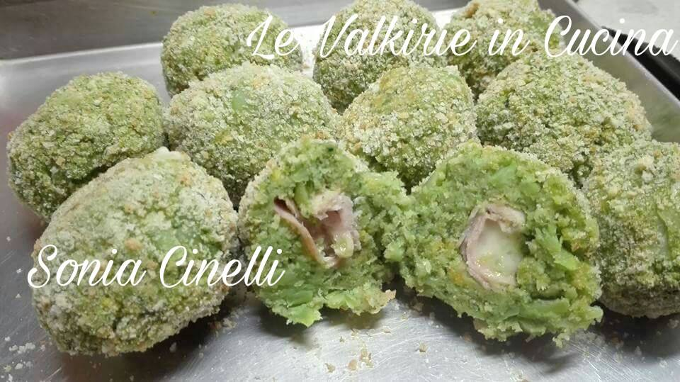 Polpette di broccoli prosciutto e formaggio di Sonia Cinelli