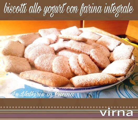 Biscotti con farina integrale allo yogurt