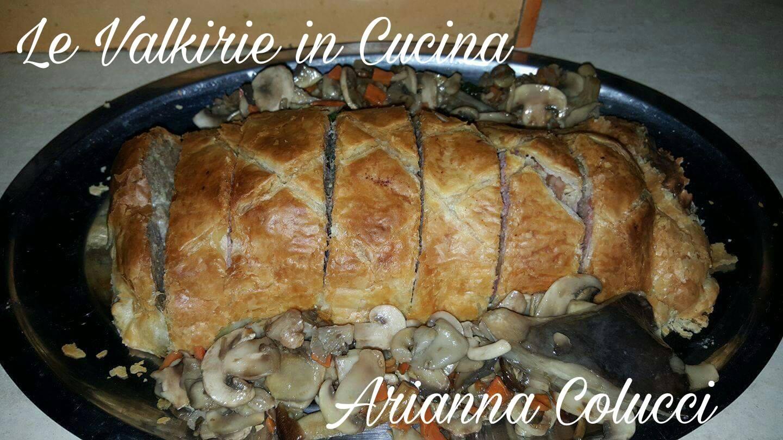 Polpettone in Crosta  ripieno con funghi prosciutto cotto e sottilette di Arianna Colucci
