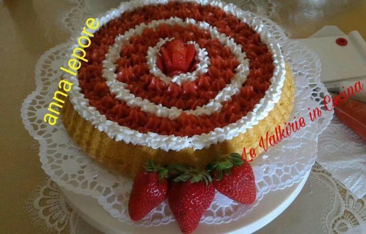 Crostata morbida con crema di fragole di Anna Lepore