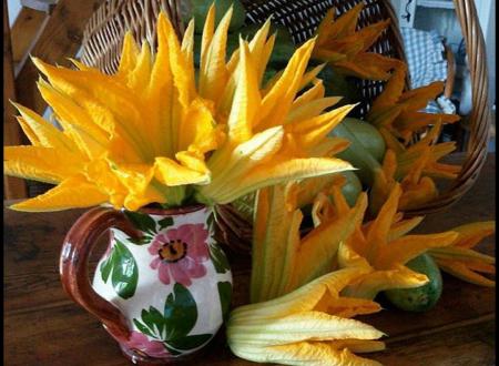 Torta rustica ai fiori di zucchina