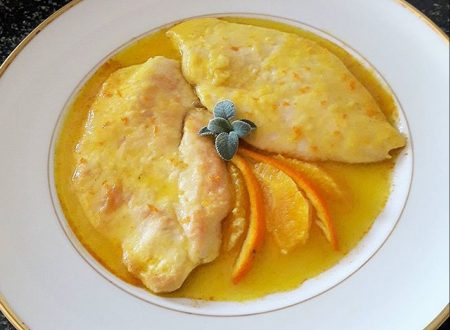 Scaloppine di pollo all'arancia