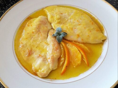 Scaloppine di pollo all'arancia