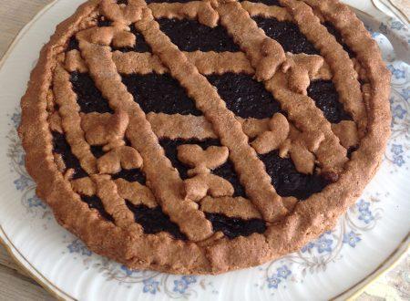 Crostata al grano saraceno con composta di more
