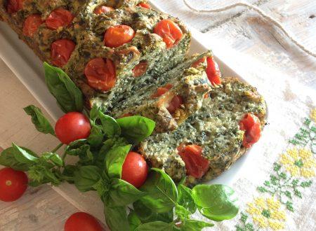Plumcake agli spinaci con pomodorini dell'orto