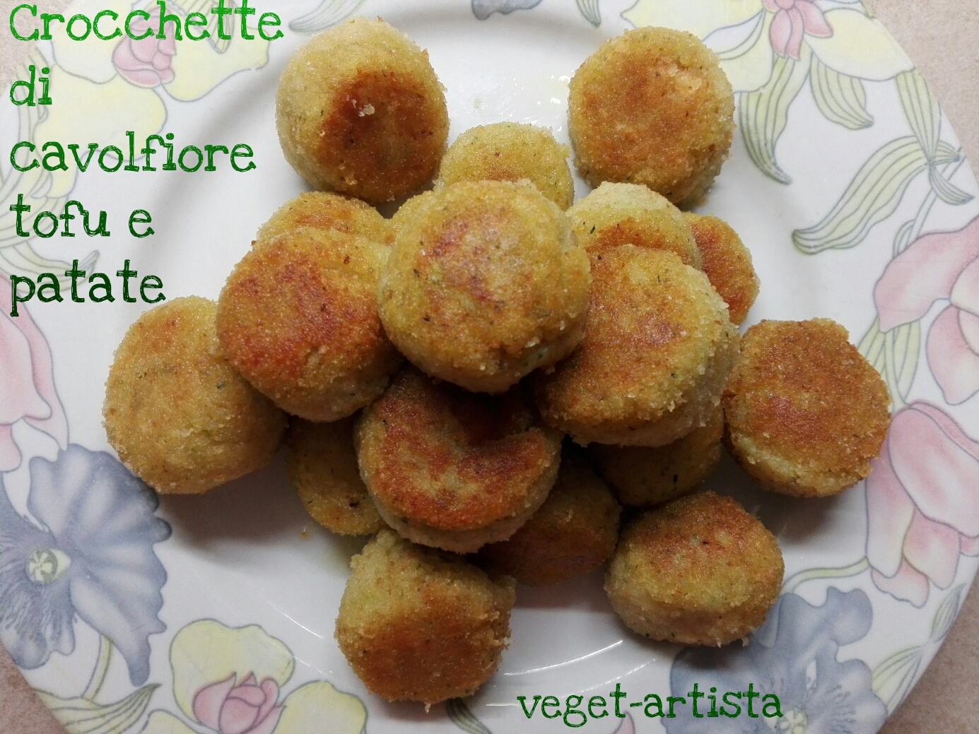 Crocchette di cavolfiore patate e tofu