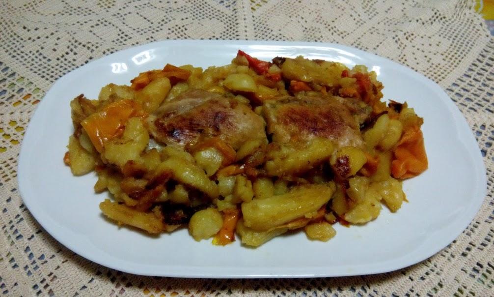 Peperoni, patate e pollo!