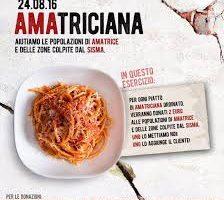 Con un piatto di Amatriciana, gli chef aiutano i paesi colpiti dal terremoto