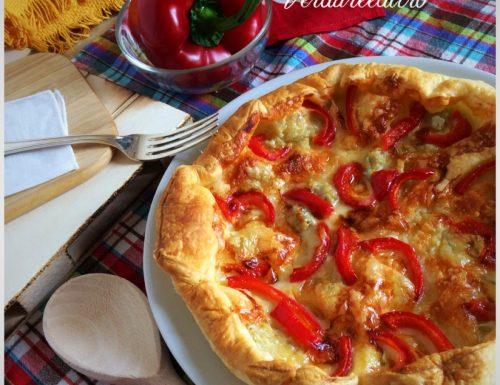 Torta Salata con Gorgonzola e Peperoni