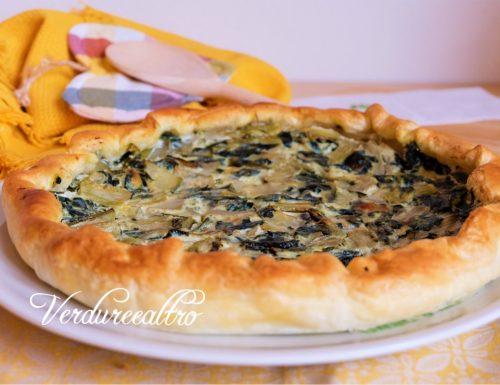 Torta Salata Bietole, Cicoria e Ricotta