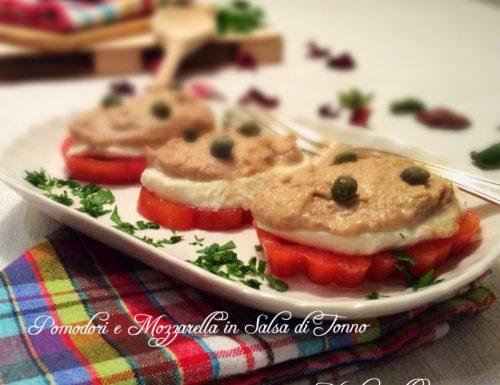 Pomodori e Mozzarella con Salsa di Tonno Gustosa