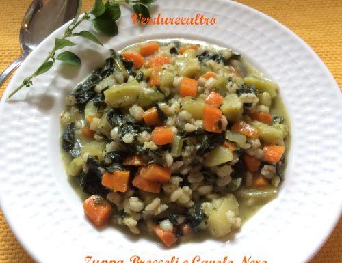 Zuppa Broccoli e Cavolo Nero con Orzo