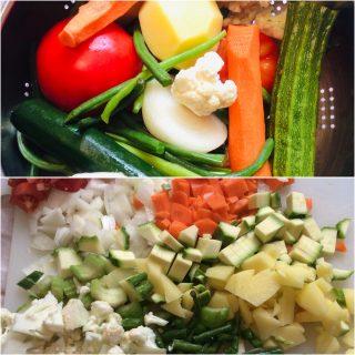 Zuppa di verdure con pane