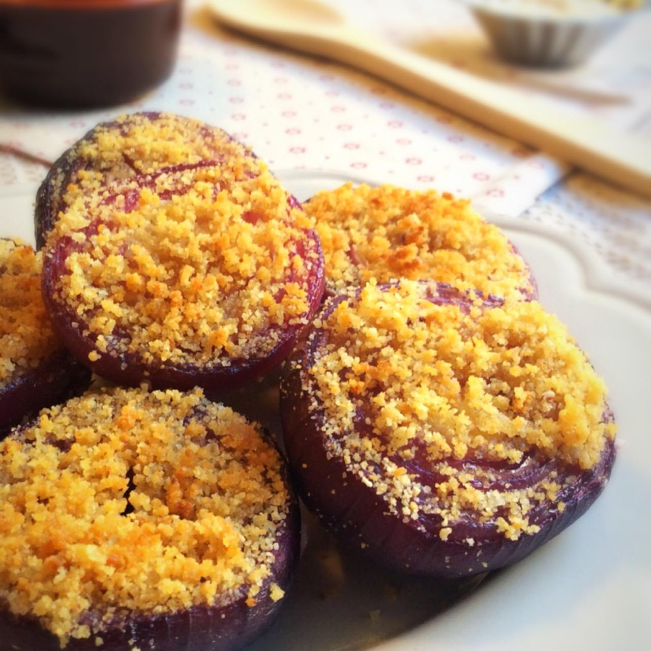 Cipolle rosse gratinate al forno