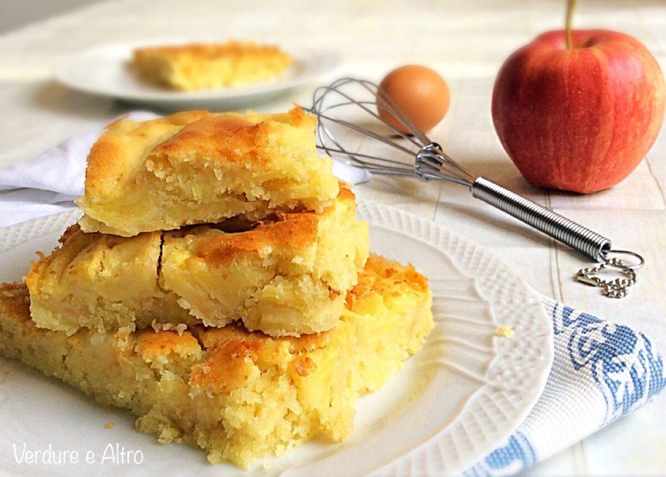 Schiaccia dolce e morbida alle mele