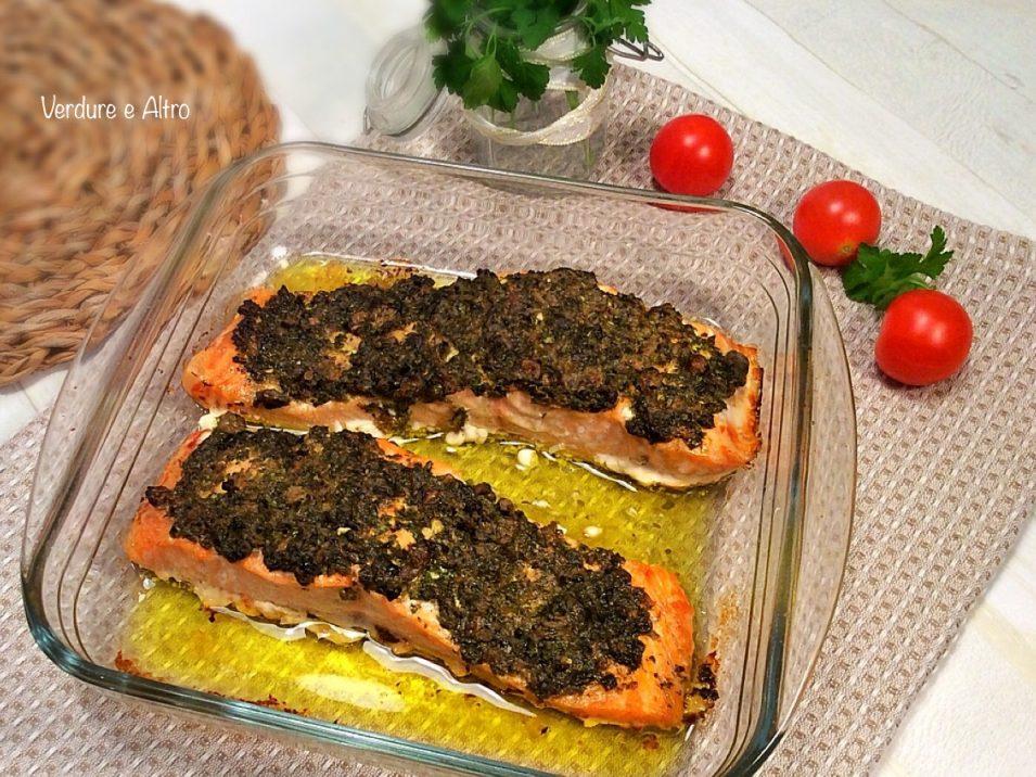 Salmone con salsa capperi e Prezzemolo