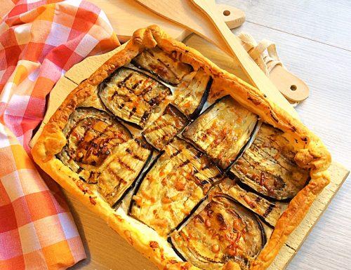 Torta Salata con Ricotta Melanzane e Grana
