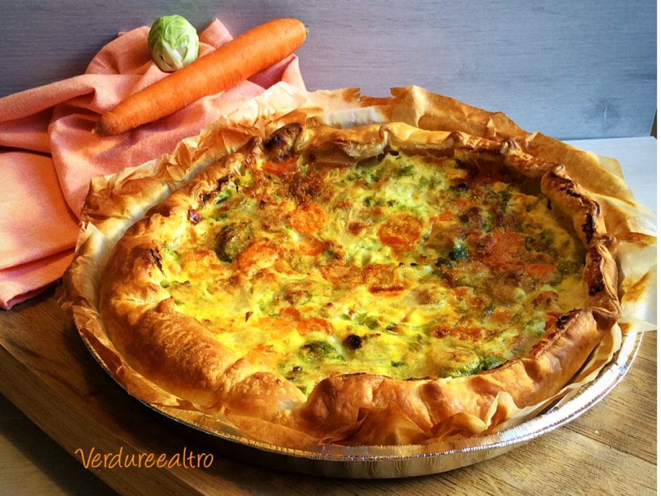 Torta Salata con cavoletti di Bruxelles e carote
