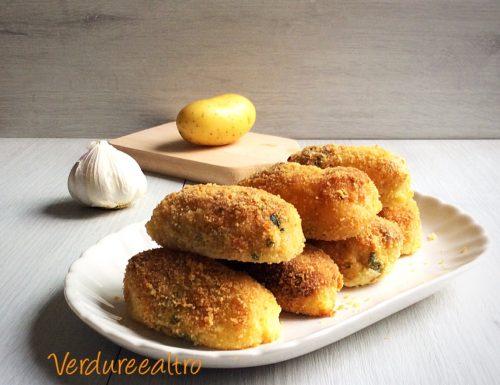 Crocchette di Patate con Aglio e Prezzemolo in Forno