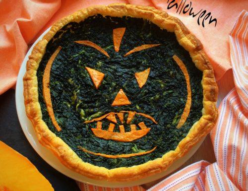 Torta Salata di Halloween agli Spinaci e Zucca