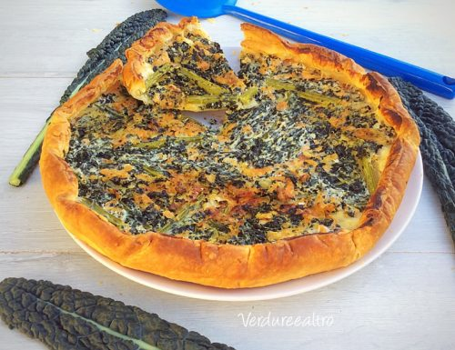 Torta Salata con Cavolo Nero, Salmone e Ricotta