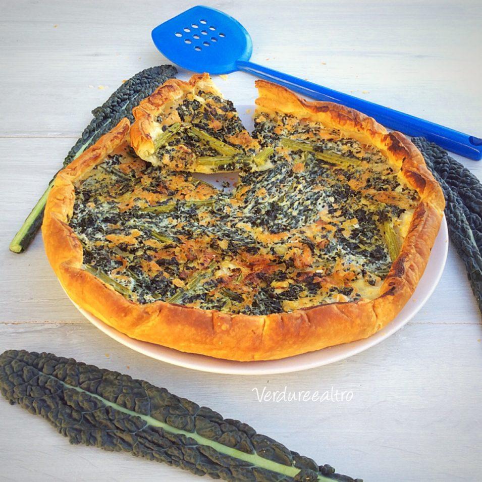 Torta Salata con Cavolo Nero salmone e Ricotta