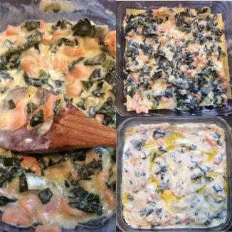 Lasagne bianche con Cavolo Nero e salmone affumicato