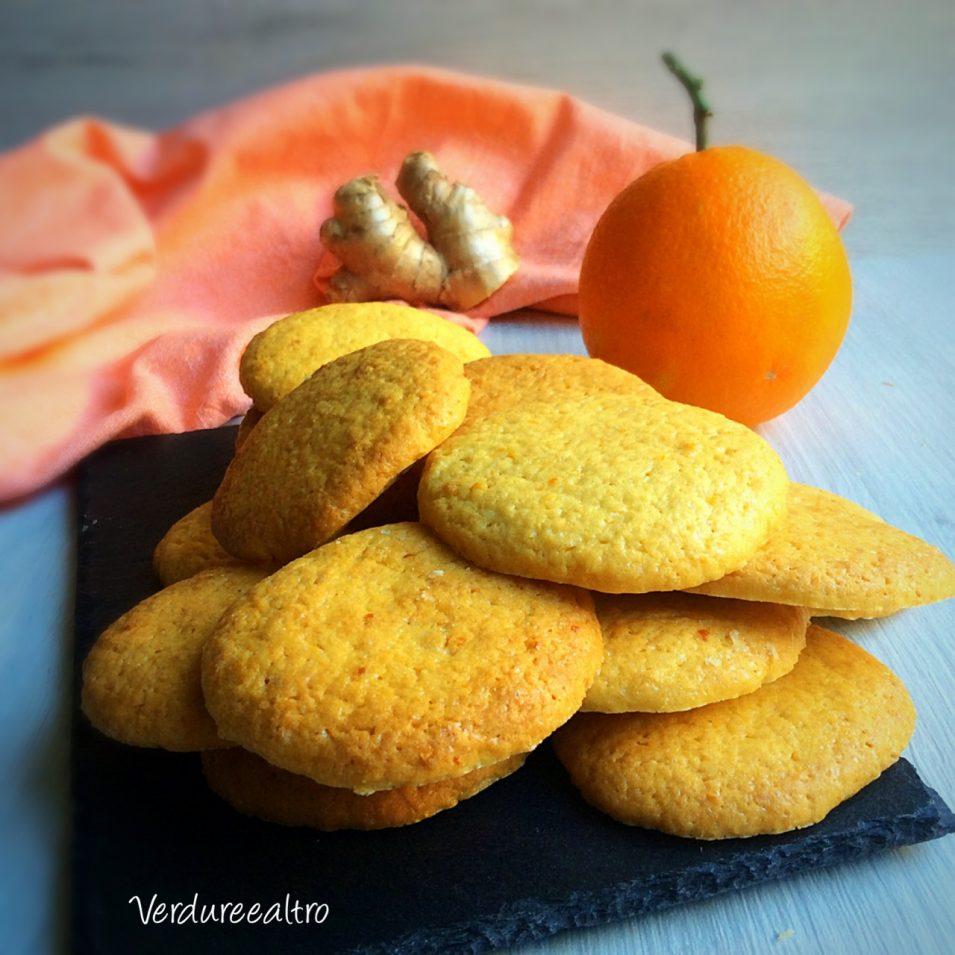 Biscotti all'Arancia e Zenzero senza uova