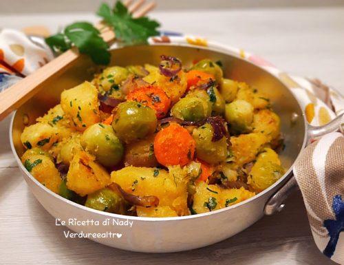Cavoletti di Bruxelles con Patate e Carote in Padella