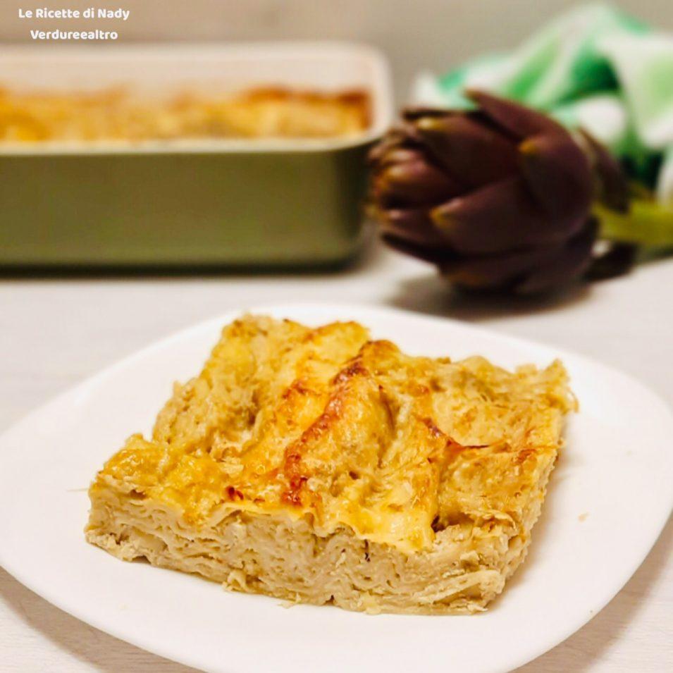 Lasagne con ricotta e carciofi
