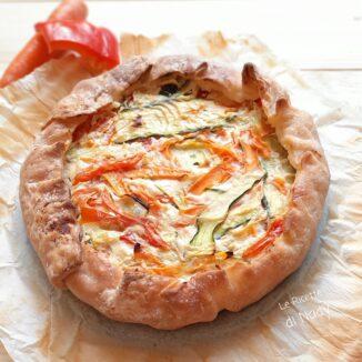 Torta Rustica con Peperoni zucchine e carote