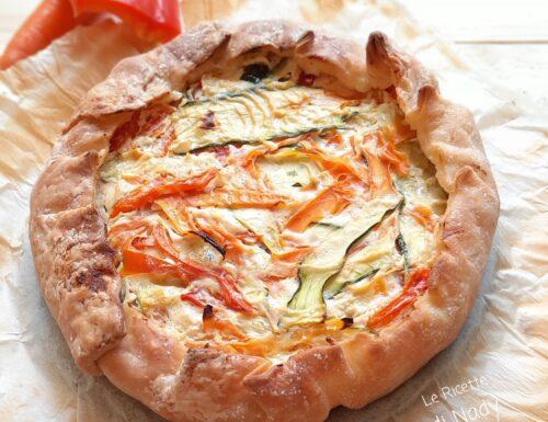 Torta Rustica con Peperoni Carote e Zucchine