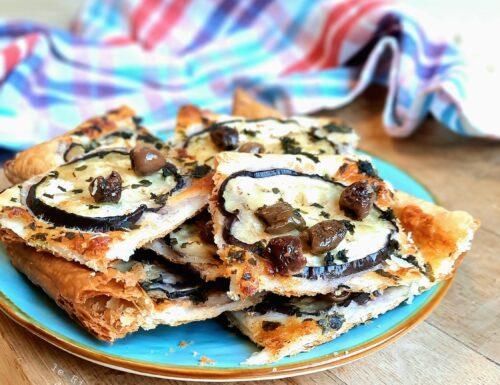 Torta salata con Melanzane Stracchino e Olive