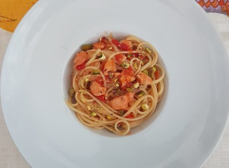 Linguine Pomodorini e Salmone
