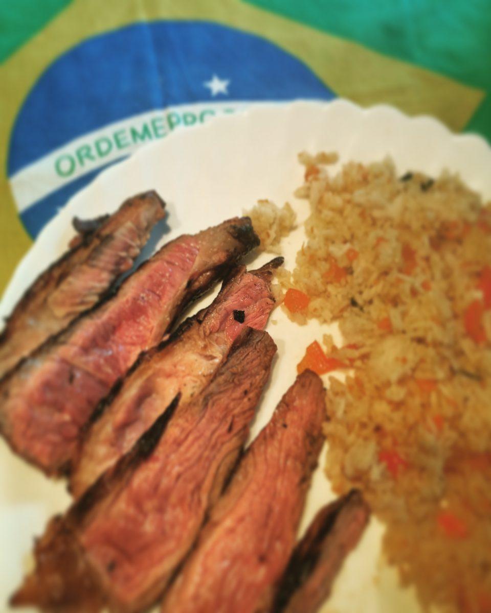 Ricetta carne asada e riso alla greca brasiliano