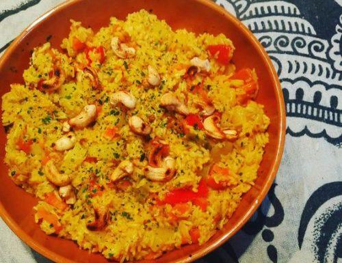 Veg pulao (riso pilaf con verdure)