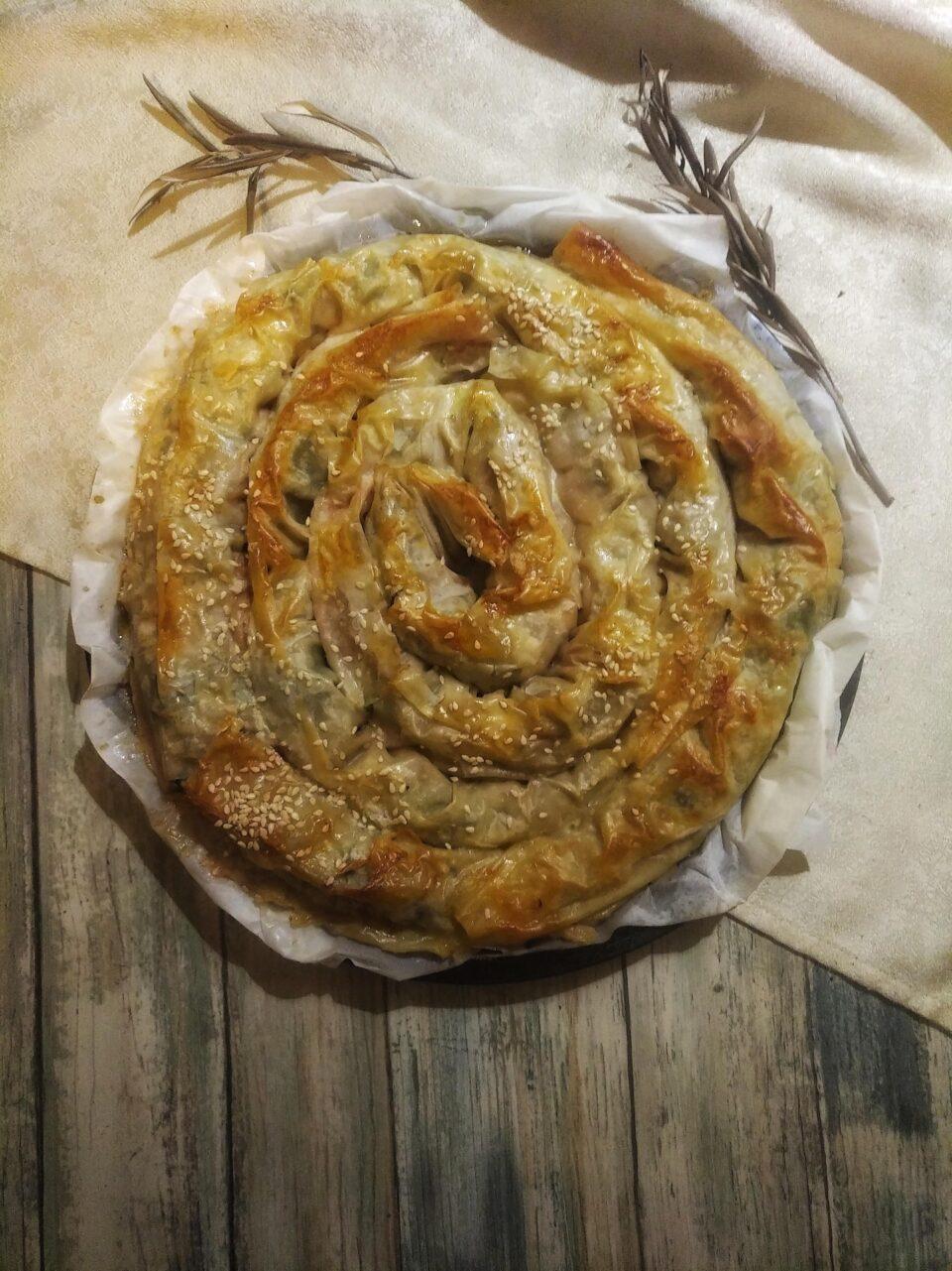 Ricetta burek con spinaci formaggio carne Kosovo