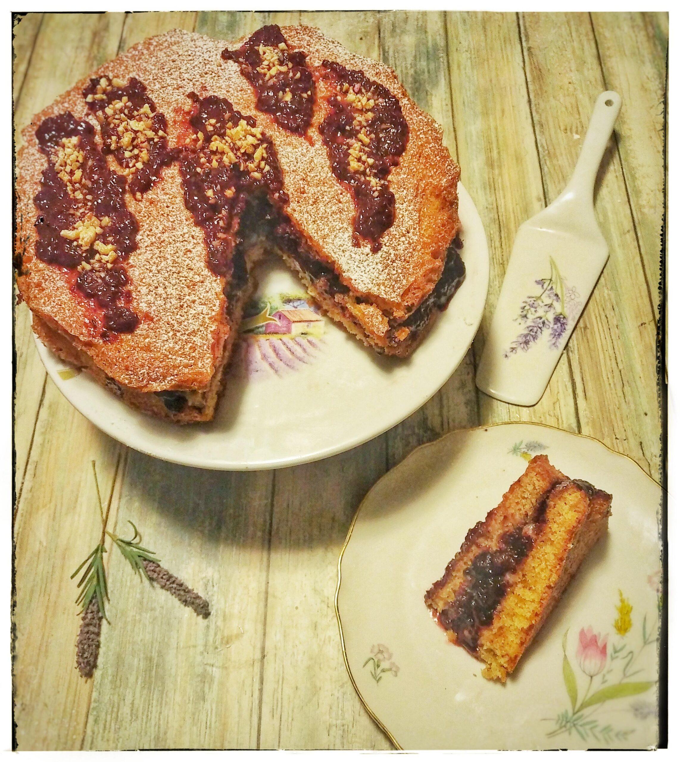 Sponge cake mirtilli e lamponi (Stati Uniti)