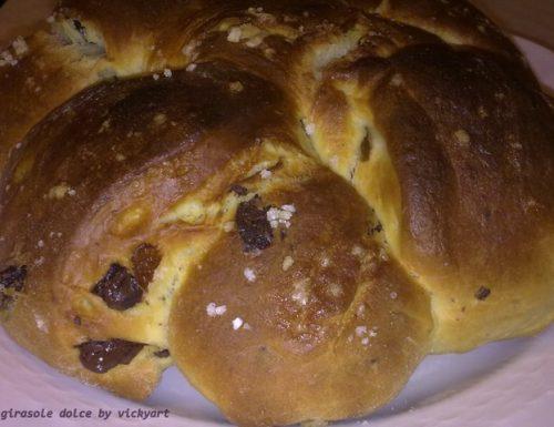 Girasole dolce di pan brioche