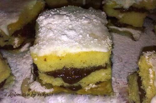 Torta diplomatica con crema al cioccolato