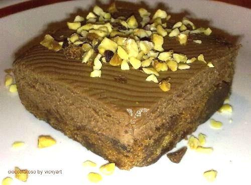 Biscotti di pan di spagna al cioccolato