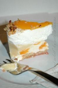 Torta gelato alla pesca vickyart arte in cucina