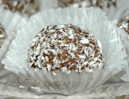 Tartufini al cioccolato cocco e menta