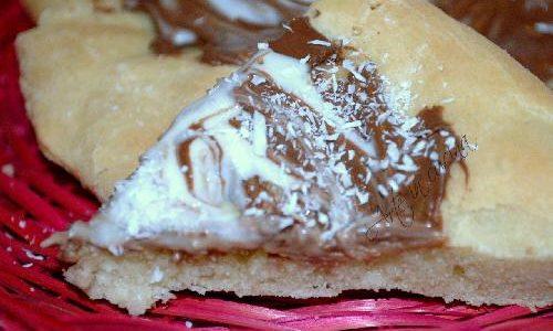 Pizza nutella e cioccolato bianco