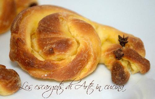 Les escargots con pasta briosche sfogliata per colazione