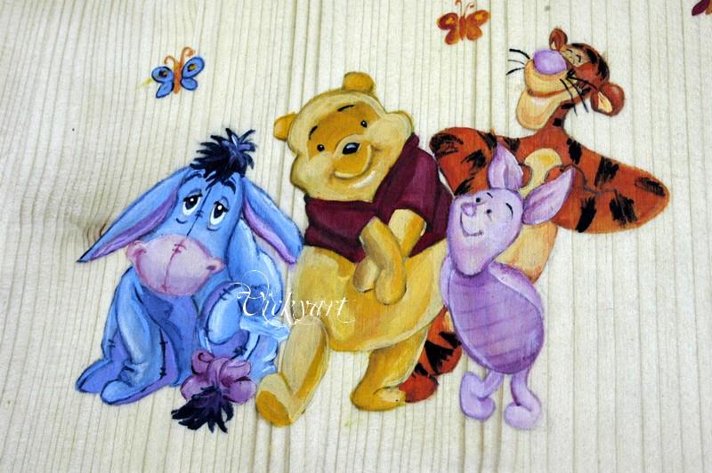 La scatola in legno con whinnie the pooh e i suoi amici for Winnie pooh ka che