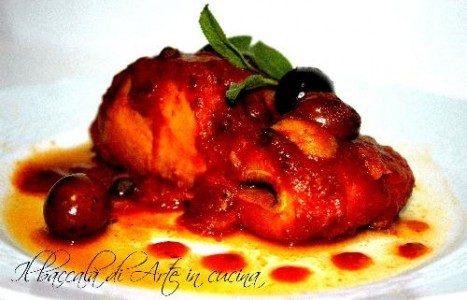 Baccalà olive e capperi