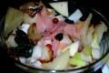Cruda e cotta con salmone e pinzimonio