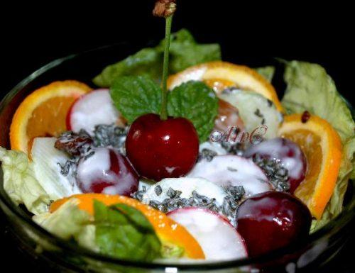 Coppa di frutta al kefir