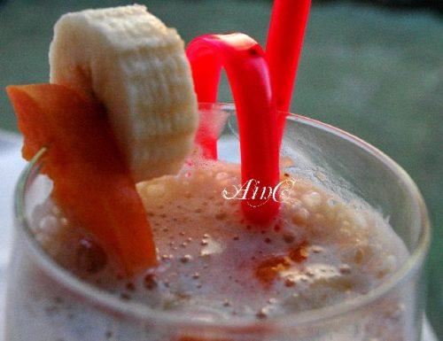 Frullato di banane e albicocche